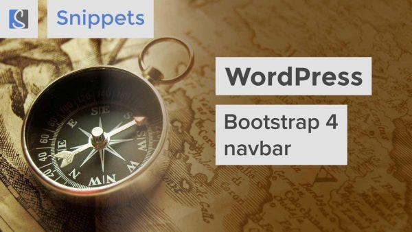 WordPress Bootstrap 4 navbar
