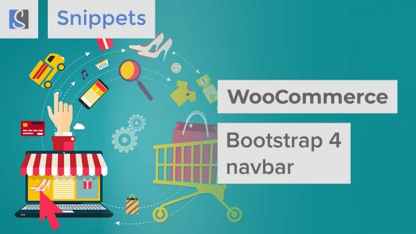 WooCommerce Bootstrap 4 navbar